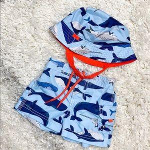 Carter's Whale Swimsuit & Hat Set Carter's Swim